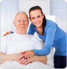 elderly man and nurse